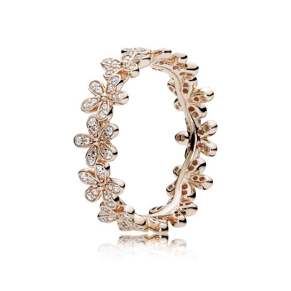 Pandora Garden Collection Rose Gold Plated Silver Ring Image 2 SVS Fine Jewelry Oceanside, NY