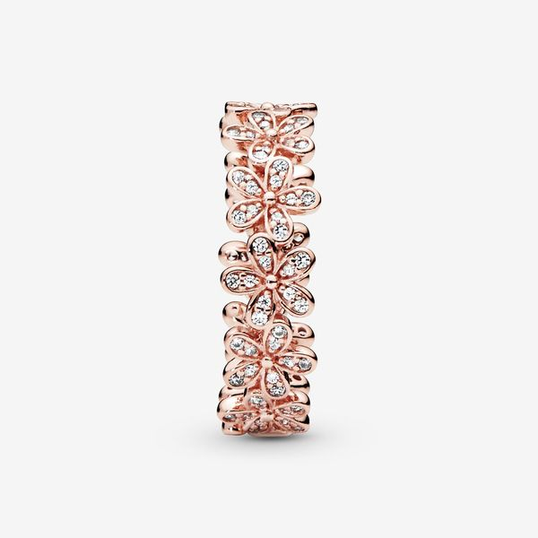 Pandora Garden Collection Rose Gold Plated Silver Ring Image 3 SVS Fine Jewelry Oceanside, NY