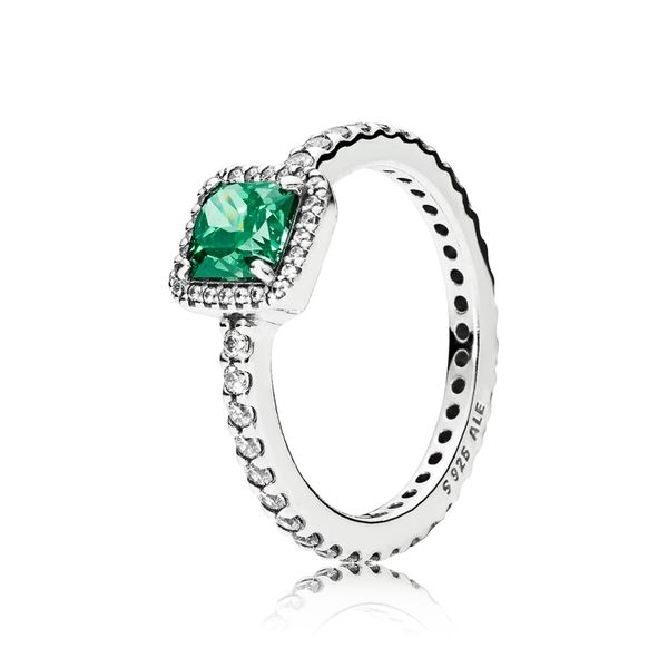 Pandora Timeless Collection Sterling Silver Green Ring SVS Fine Jewelry Oceanside, NY