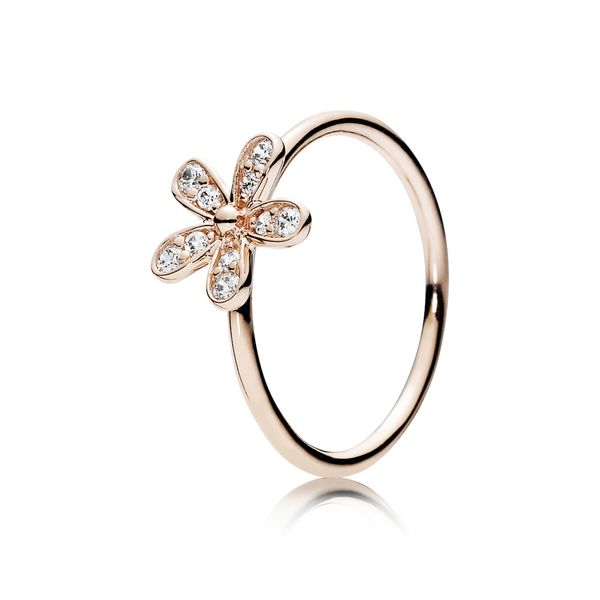 Pandora Garden Collection Rose Gold Plated Silver Ring SVS Fine Jewelry Oceanside, NY
