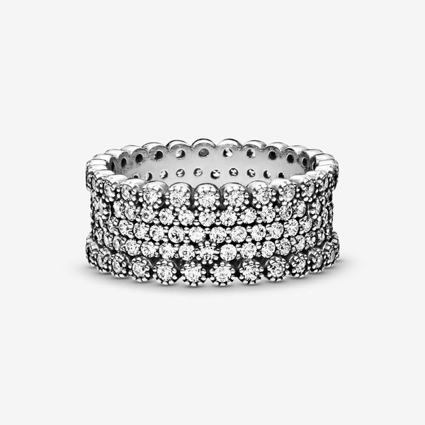 Pandora Timeless Collection Sterling Silver Pavé Band Ring Image 3 SVS Fine Jewelry Oceanside, NY