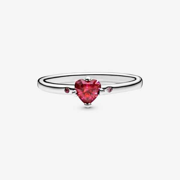Pandora People Collection Sterling Silver Red Heart Ring Image 3 SVS Fine Jewelry Oceanside, NY
