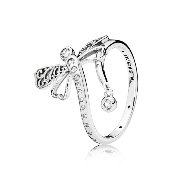 Pandora Garden Collection Sterling Silver Dragonfly Ring SVS Fine Jewelry Oceanside, NY