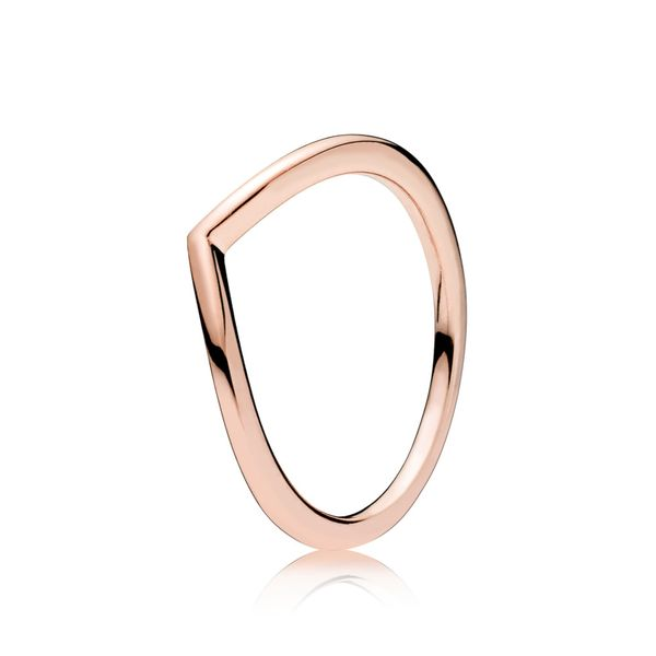 Pandora Wish Collection Rose Gold Plated Silver Ring Image 2 SVS Fine Jewelry Oceanside, NY