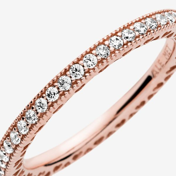 Pandora Signature Collection Rose Gold Plated Silver Ring Image 2 SVS Fine Jewelry Oceanside, NY