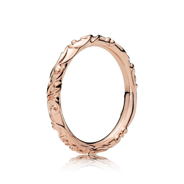 Pandora Passions Collection Rose Gold Plated Silver Ring SVS Fine Jewelry Oceanside, NY