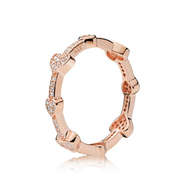 Pandora Timeless Collection Rose Gold Plated Silver Ring Image 2 SVS Fine Jewelry Oceanside, NY