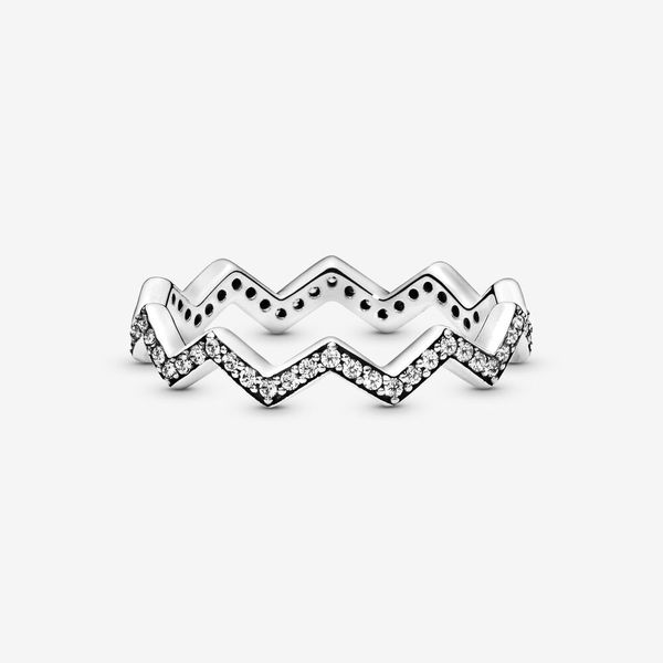 Pandora Wish Collection Sterling Silver Zigzag Ring Image 2 SVS Fine Jewelry Oceanside, NY