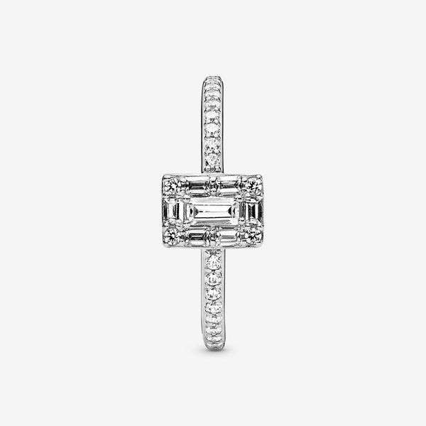 Pandora Timeless Collection Sterling Silver Square Halo Ring Image 2 SVS Fine Jewelry Oceanside, NY