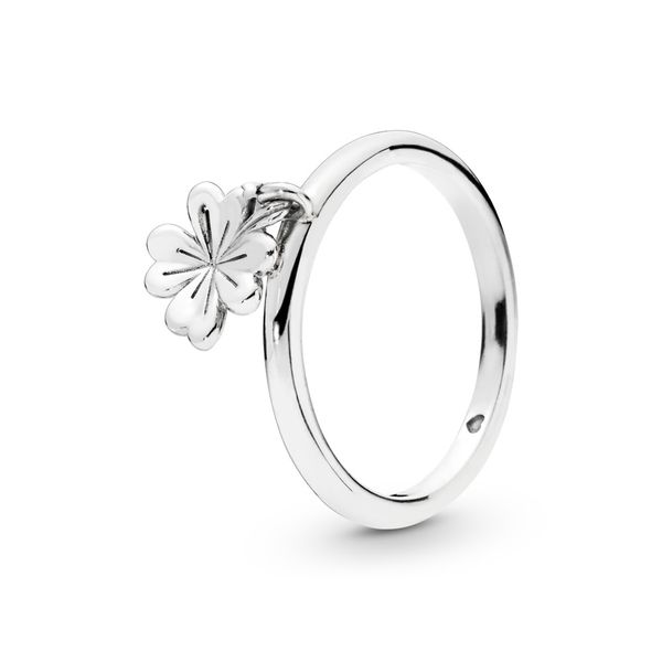 Pandora Garden Collection Sterling Silver Clover Ring SVS Fine Jewelry Oceanside, NY