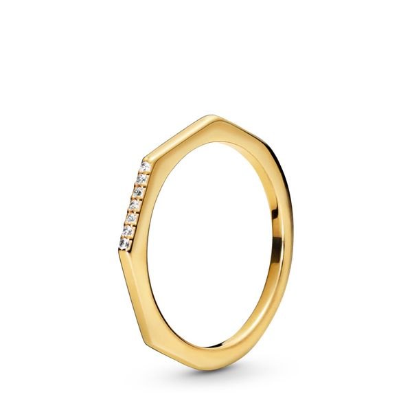 Pandora Timeless Collection Yellow Gold Plated Silver Ring SVS Fine Jewelry Oceanside, NY