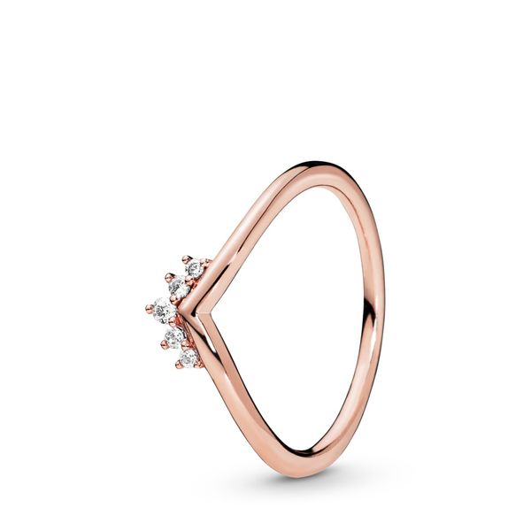 Pandora Wish Collection 14K Rose Gold Plated Silver Ring Image 2 SVS Fine Jewelry Oceanside, NY