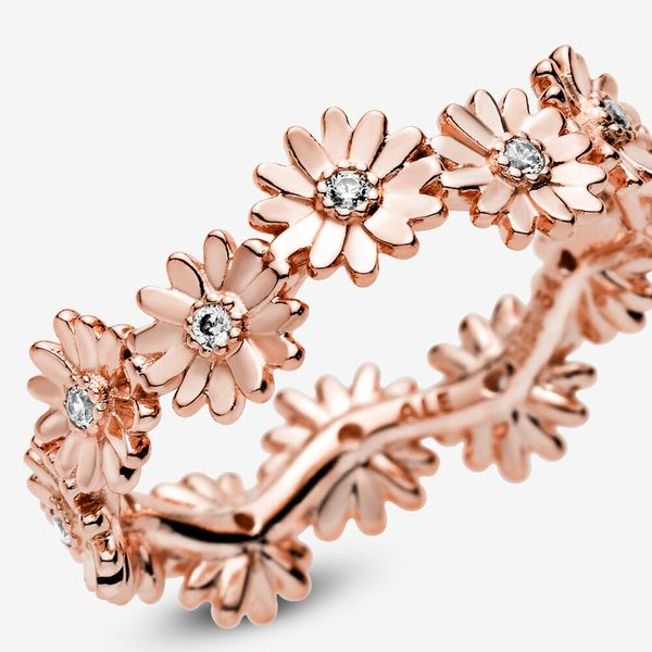 Pandora Garden Collection 14K Rose Gold Plated Silver Ring Image 4 SVS Fine Jewelry Oceanside, NY