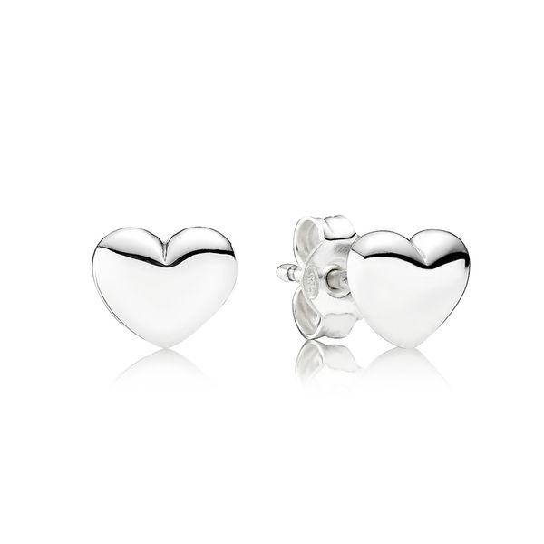 Pandora People Collection Sterling Silver Heart Earrings SVS Fine Jewelry Oceanside, NY