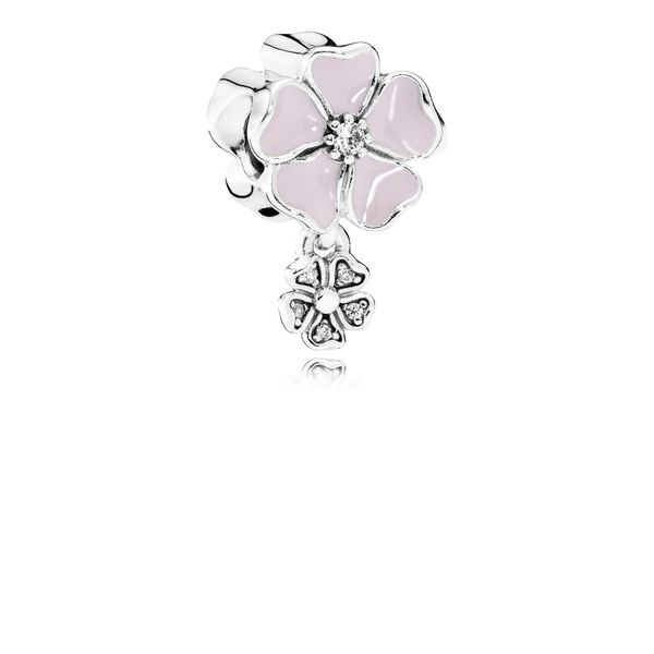 Pandora Dangling Pink Cherry Blossom Flower Charm SVS Fine Jewelry Oceanside, NY