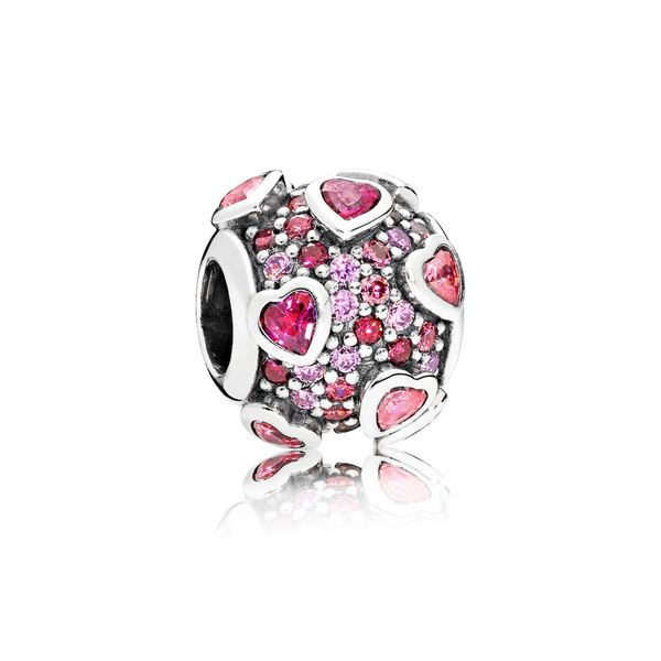 Pandora Raised Hearts Pavé Charm SVS Fine Jewelry Oceanside, NY