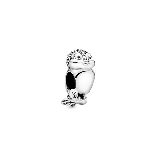 Disney Snow White bird charm in sterling silver with 62 bead-set clear CZ SVS Fine Jewelry Oceanside, NY