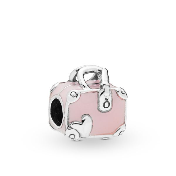 Pandora Pink Travel Bag Charm SVS Fine Jewelry Oceanside, NY