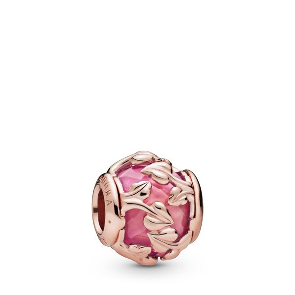 Pandora Pink Decorative Leaves Charm SVS Fine Jewelry Oceanside, NY