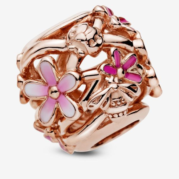 Pandora Garden Collection Rose Gold Plated Silver Charm SVS Fine Jewelry Oceanside, NY