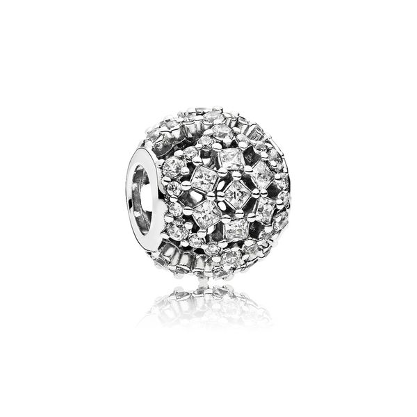 Snowflake charm in SS with clear CZ SVS Fine Jewelry Oceanside, NY