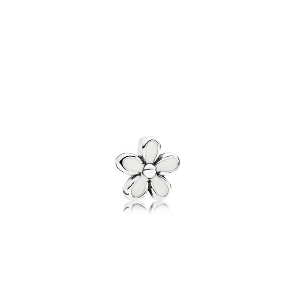 Daisy petite element in sterling silver with white enamel SVS Fine Jewelry Oceanside, NY