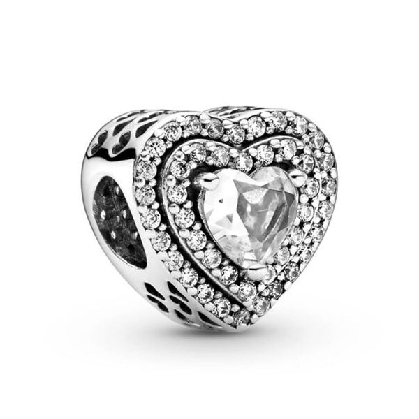 Pandora Timeless Collection Sterling Silver Heart Charm SVS Fine Jewelry Oceanside, NY