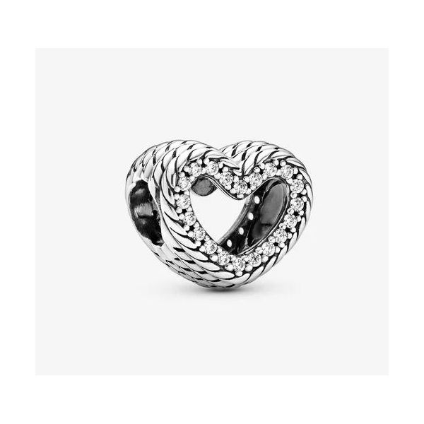 Pandora Icons Collection Sterling Silver Open Heart Charm SVS Fine Jewelry Oceanside, NY