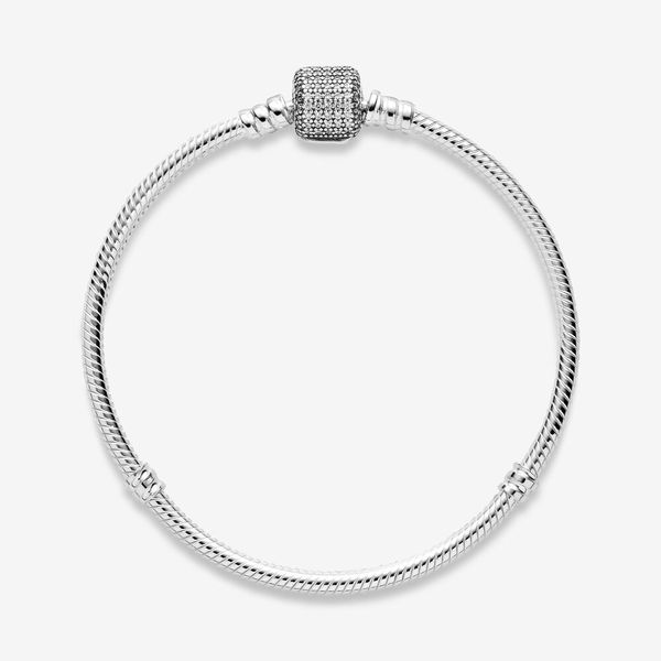 Pandora Icons Collection Sterling Silver Snake Chain Bracelet Image 2 SVS Fine Jewelry Oceanside, NY