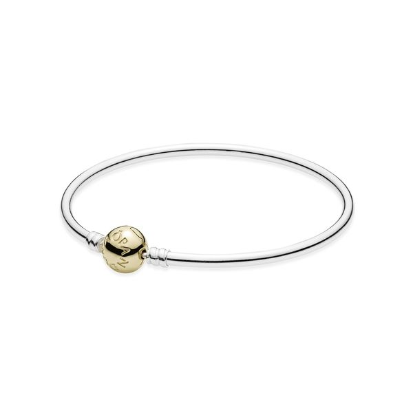 Pandora Icons Collection 14K Yellow Gold & Silver Bangle SVS Fine Jewelry Oceanside, NY