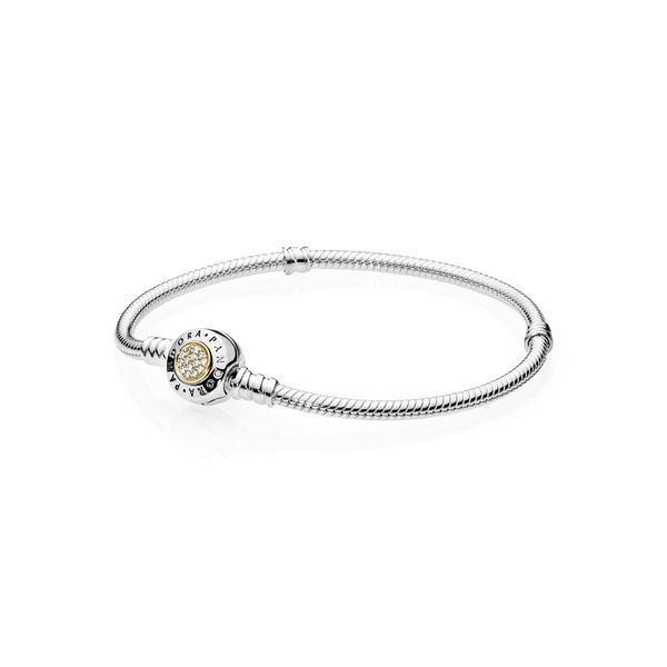 Pandora Signature Collection Yellow Gold And Silver Bracelet SVS Fine Jewelry Oceanside, NY