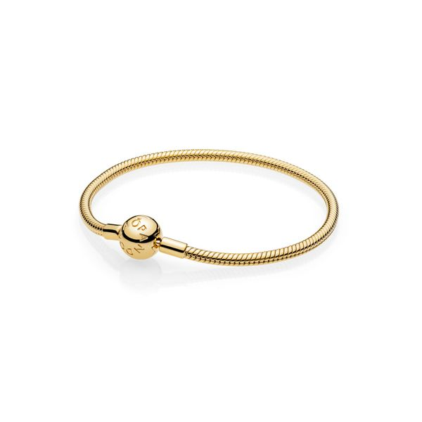 Pandora Icons Collection Yellow Gold Plated Silver Bracelet SVS Fine Jewelry Oceanside, NY