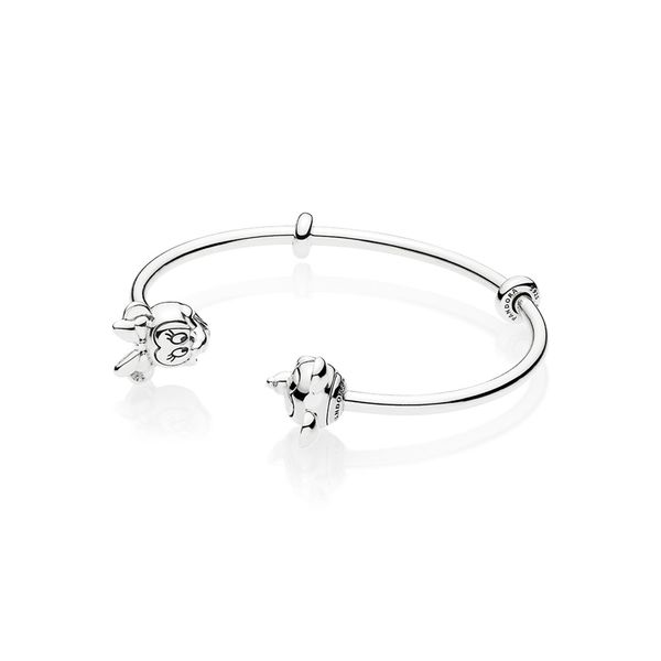 Pandora Disney x Pandora Collection Sterling Silver Bangle SVS Fine Jewelry Oceanside, NY