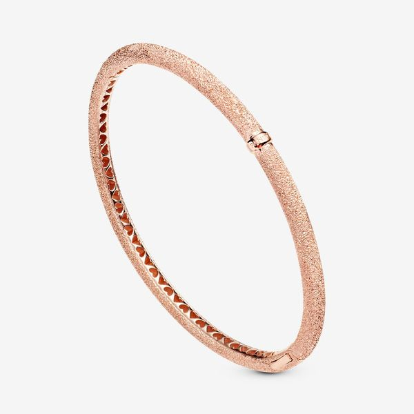 Pandora Timeless Collection Rose Gold Plated Silver Bangle Image 3 SVS Fine Jewelry Oceanside, NY