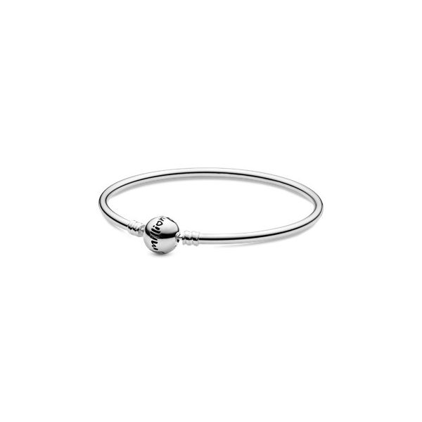 Pandora Moments Collection Silver Clasp Bangle SVS Fine Jewelry Oceanside, NY
