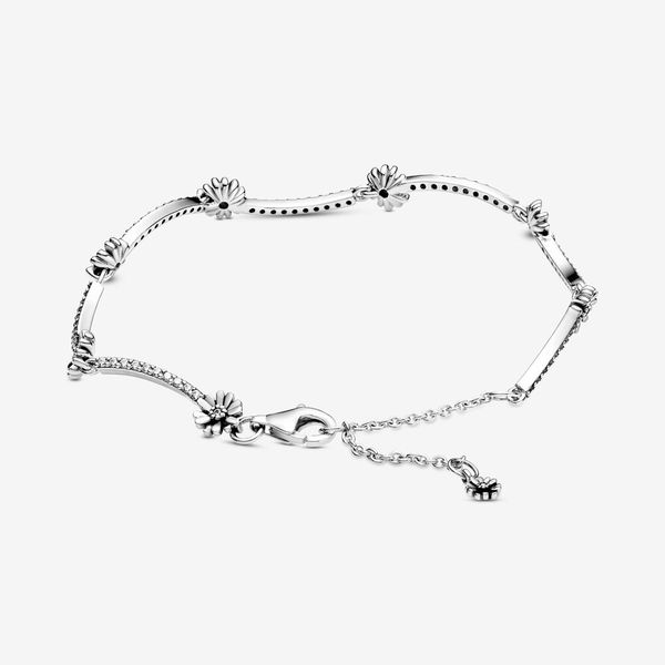 Pandora Garden Collection Sterling Silver Daisy Bracelet Image 2 SVS Fine Jewelry Oceanside, NY