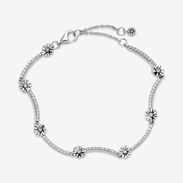 Pandora Garden Collection Sterling Silver Daisy Bracelet Image 3 SVS Fine Jewelry Oceanside, NY