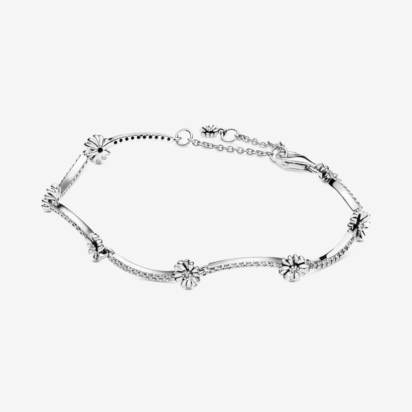 Pandora Garden Collection Sterling Silver Daisy Bracelet SVS Fine Jewelry Oceanside, NY