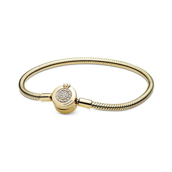Pandora Signature Collection Gold Plated Silver Bracelet SVS Fine Jewelry Oceanside, NY