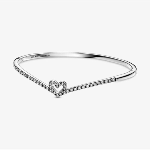 Pandora Wish Collection Sterling Silver Wishbone Bangle SVS Fine Jewelry Oceanside, NY