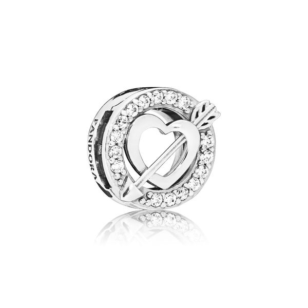 Pandora Reflexions Collection Sterling Silver Heart Charm SVS Fine Jewelry Oceanside, NY