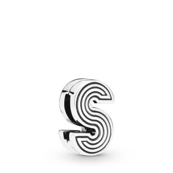 Pandora Reflexions Collection Sterling Silver S Clip Charm SVS Fine Jewelry Oceanside, NY