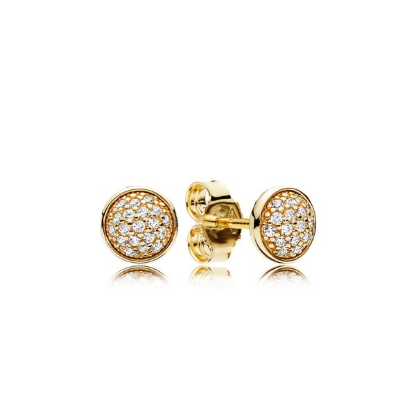 Pandora Timeless Collection 14K Yellow Gold Stud Earrings SVS Fine Jewelry Oceanside, NY