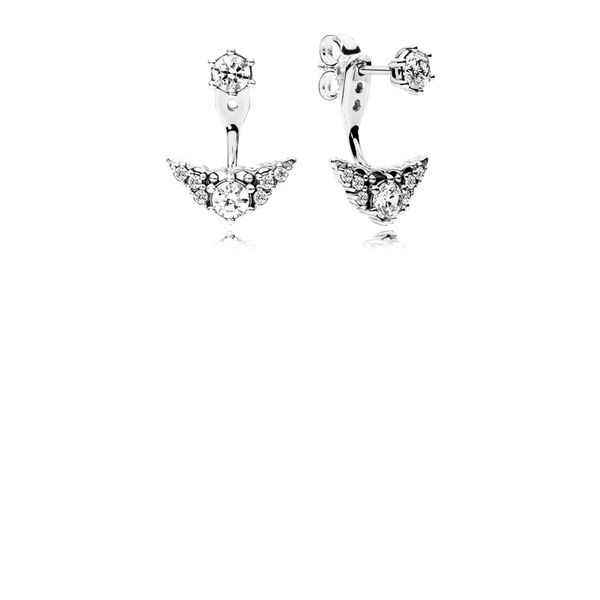 Pandora Timeless Collection Sterling Silver Tiara Earrings SVS Fine Jewelry Oceanside, NY