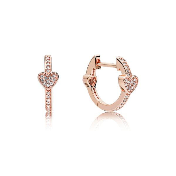 Pandora People Collection Rose Gold Plated Silver Earrings SVS Fine Jewelry Oceanside, NY