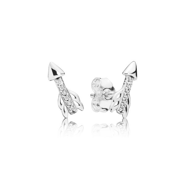 Pandora People Collection Sterling Silver Arrow Earrings SVS Fine Jewelry Oceanside, NY