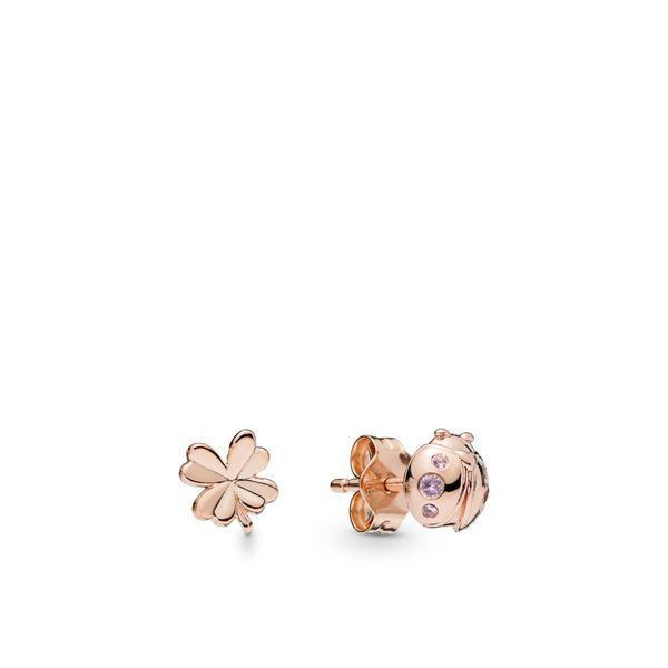Pandora Garden Collection Rose Gold Plated Silver Earrings SVS Fine Jewelry Oceanside, NY