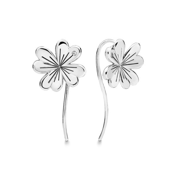 Lucky Four-Leaf Clover earrings SVS Fine Jewelry Oceanside, NY