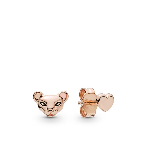 Pandora Passions Collection Rose Gold Plated Silver Earrings SVS Fine Jewelry Oceanside, NY