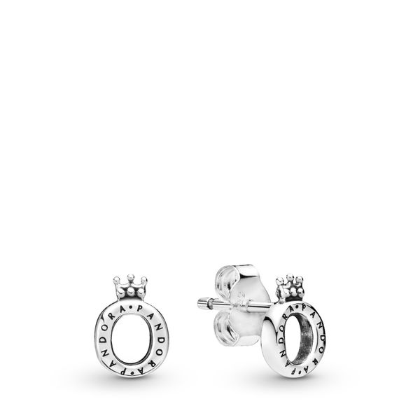 Pandora Signature Collection Sterling Silver Crown Earrings SVS Fine Jewelry Oceanside, NY